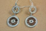 Серьги BVLGARI (Булгари) серебро, золото, фото №6