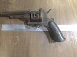 Шпилечный 7мм карманный револьвер системы Лефоше, фото №3