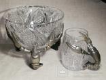 Пивной бокал - кружка с раком, и ваза хрусталь для раков, фото №3