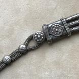Старинное серебреное колье 135 грамм в этно стиле, фото №8