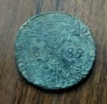 Патагон ( талер ) Іспанські Нідерланди 1689 Фальшак, фото №2