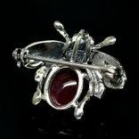 Брошь - подвессеребро 925 натуральный рубин., фото №4