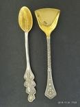 Серебро СССР, ложечки для соли и горчицы