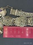 Пояс и браслет Серебро 84* Кавказ фото 8