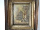 Старинная рисованная миниатюра ( Масло , Холст ) Европа, фото №3