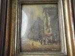 Старинная рисованная миниатюра ( Масло , Холст ) Европа, фото №4