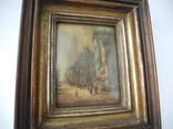 Старинная рисованная миниатюра ( Масло , Холст ) Европа, фото №8