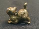 Котенок милый коллекционная миниатюра бронза брелок, фото №5