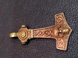 Молот Тора Череп бронза коллекционна миниатюра брелок, фото №6