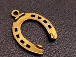 Подкова на удачу бронза брелок кулон миниатюра, фото №4