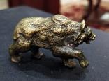Медведь большой роскошный бронза коллекционная миниатюра, фото №2
