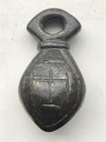 Кистень КР 10 век , украшенный, бронза, фото №2