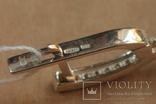 Серьги серебро, золото, бирюза, фото №5