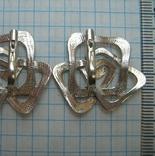 Серебряные Серьги Сережки Розы Цветы Английская Застежка Замок 925 проба Серебро 063 фото 3