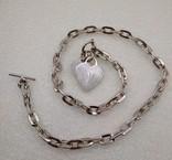 Цепь цепочка серебро 925  45 см, фото №3