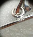 Цепь цепочка серебро 925  45 см, фото №6