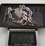 Цепь цепочка серебро 925  45 см, фото №7