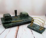 Антикварный набор для письменного стола, мрамор, бронза, фото №3