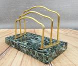 Антикварный набор для письменного стола, мрамор, бронза, фото №6