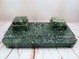 Антикварный набор для письменного стола, мрамор, бронза, фото №9