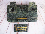 Антикварный набор для письменного стола, мрамор, бронза, фото №11