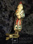 Ёлочная игрушка звездочет с красным колпаком, фото №4