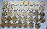 Полный набор долларов США серия ''Президенты'' - 39 шт, фото №2
