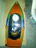 Годинник оформлений у лодочці. Лодка і годинник, фото №5