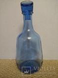 Графин стеклянный синий СССР, фото №2