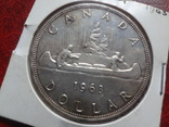 1 доллар  1963  Канада  серебро   (,7.6.9)~, фото №2