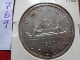 1 доллар  1963  Канада  серебро   (,7.6.9)~, фото №4
