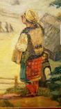 """""""Розмова"""",Цыганкова Е.И.,1965 г.44,5×40,5 см., фото №3"""