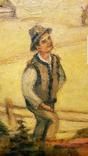 """""""Розмова"""",Цыганкова Е.И.,1965 г.44,5×40,5 см., фото №4"""
