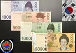 Южная Корея - Набор из 4 банкнот - 1000 - 50000 вон 2006 - 2009 - UNC, Пресс, фото №2