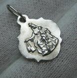 Серебряный Кулон Подвеска Икона Иконка Богородица Иисус 925 проба Серебро 550