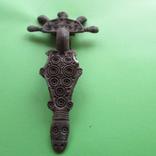 Зооморфная пятипалая фибула Пеньковской Культуры с родной иглой, фото №9