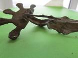 Зооморфная пятипалая фибула Пеньковской Культуры с родной иглой, фото №10