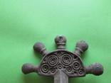 Зооморфная пятипалая фибула Пеньковской Культуры с родной иглой, фото №11