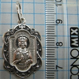 Новый Серебряный Кулон Подвеска Святой Александр Невский 925 проба Серебро 684 фото 3