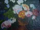 "Натюрморт ""Розы"",картон,масло,13,5/10см., фото №4"
