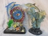 Часы и статуэтка Дельфины, фото №2