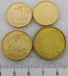 Монеты Финляндии 10 пенни, 20 пенни, 50 пенни, 10 марок, фото №2