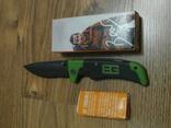 Нож складной Gerber Bear Grylls Scout 114 U4-4 /Green с сирейтером, фото №4