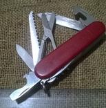Huntsman  red.VICTORINOX.Старая модель.Швейцарский.Армейский.Нож.Ніж.Червоний., фото №2