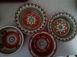 4 глибокі розписні тарілки, фото №2