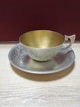 Чашка и блюдце серебро 875*