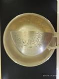 Чашка и блюдце серебро 875* фото 3