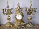 Большие, старые каминные часы. (Франция), фото №2