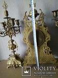 Большие, старые каминные часы. (Франция), фото №7