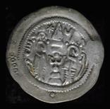 Сасаниды Ормизд IV (AD 579-590) Балх надчеканы Göbl type I/1 фото 2